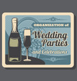 bridal ceremony wedding party and banquet vector image vector image