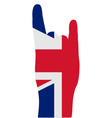 British finger signal vector image vector image
