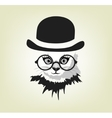 cat in the hat and glasses vector image vector image