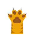 cat or dog paw print logo icon animal vector image