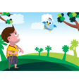 child with disability vector image vector image