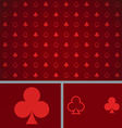 Clean Abstract Poker Background Red Clubs vector image vector image