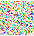 colorful seamless alphabet pattern vector image