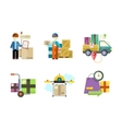 concept services in delivery goods vector image