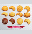 cookies transparent set vector image vector image