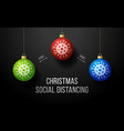 covid-19 keep social distance merry christmas vector image vector image