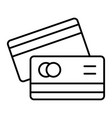 credit cards thin line icon pay vector image