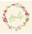 Cute floral wreath in retro style vector image vector image