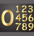 digits gold in color from on a gray background vector image vector image