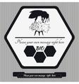 Emblem for honey9 vector image vector image