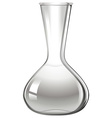 Empty glass beaker on white vector image vector image