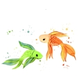 Fish Watercolor Isolated vector image