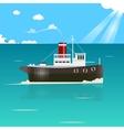 fishing boat vector image vector image