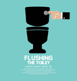 Flushing The Toilet vector image