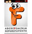 funny letter f cartoon vector image vector image