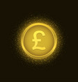 golden pound label vector image