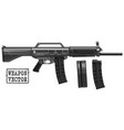graphic silhouette modern automatic galil rifle