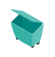 Green garbage container icon isometric 3d style vector image vector image