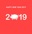 happy new year 20192019 new year greeting vector image