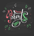 happy parents day beautiful greeting card poster vector image