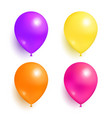 helium inflatable colorful balloons for decoration vector image