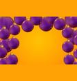 horizontal banner christmas balls on trendy yellow vector image vector image