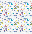 ice cream seamless pattern in memphis style vector image