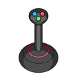 joystick for control single icon in cartoon style vector image