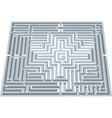Labyrinth in perspective vector image vector image