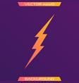 lightning bolt set vector image vector image