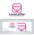 love letter logo design vector image vector image
