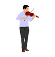 music man playing violin classic concert event vector image vector image