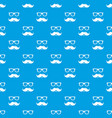 nerd glasses mustaches pattern seamless vector image vector image