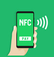nfc mobile payment vector image vector image