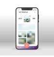 online social network profile ui ux gui screen vector image vector image