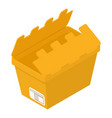 opened box icon isometric style vector image vector image