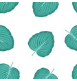 palm leaves seamless pattern isolated on white vector image
