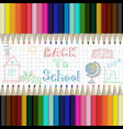 pencils multicolored abstract background back to vector image vector image