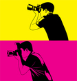photograper vector image