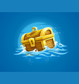 piratic trunk with treasures vector image vector image