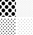 Polka dot seamless pattern set vector image vector image