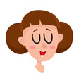 pretty brown hair woman laughing facial vector image vector image
