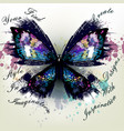 realistic butterfly find your style vector image vector image