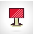 Red ad billboard flat icon vector image vector image