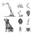 robot and factory sign vector image vector image