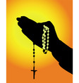 rosary icon vector image