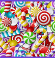 Seamless background with colorful candies vector image vector image