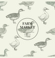 seamless farm pattern graphical duck and vector image