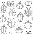 seamless pattern with decorative bugs vector image vector image
