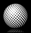 set abstract halftone 3d spheres 17 vector image vector image